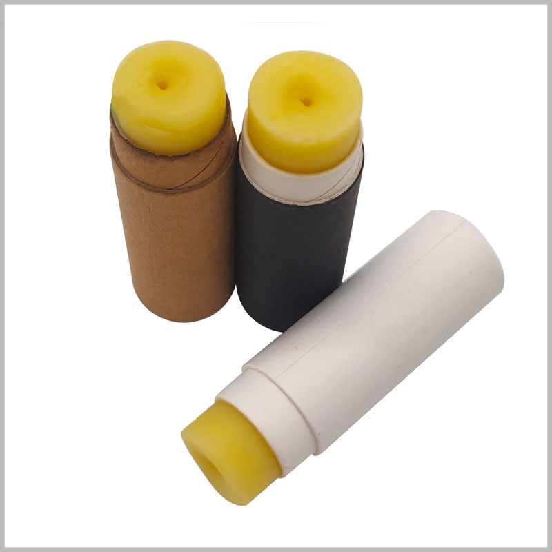 biodegradable cardboard deodorant tubes packaging without printed. The small-diameter paper tube packaging is used for deodorant products and has a good protection effect.