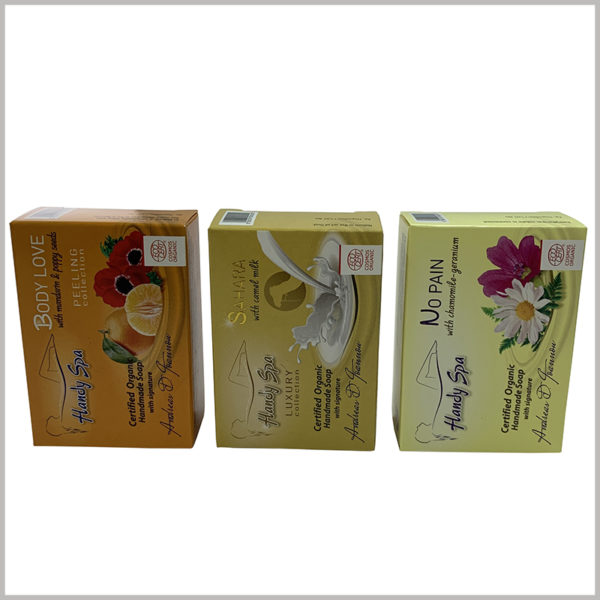biodegradable soap packaging boxes. Environmentally friendly skin care product packaging will not cause pollution to the environment, which can improve the society's impression of the brand.