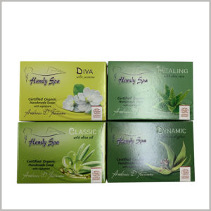biodegradable soap packaging boxes wholesale.Packaging printing uses a variety of processes to increase the richness of the packaging surface.