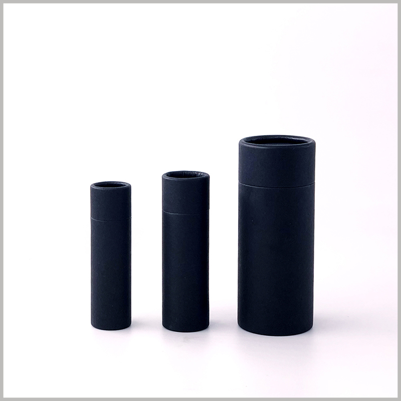 black biodegradable push up deodorant packaging