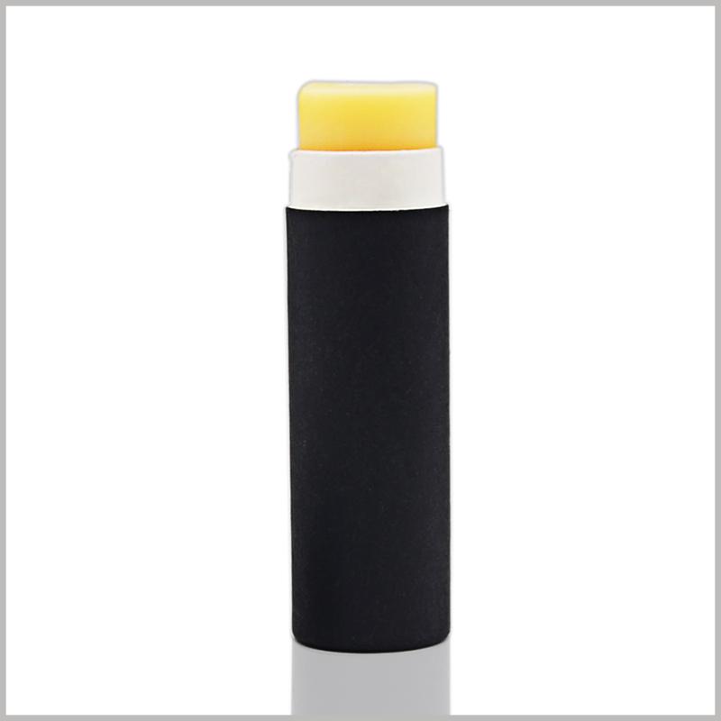 black biodegradable push up tubes for deodorant packaging