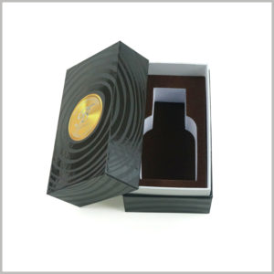 black cardboard boxes with lids for perfume packaging,The EVA inside the package plays a role in fixing the perfume glass bottle, maintaining the stability of the product