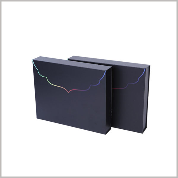 black cardboard gift boxes packaging with printing,1200g gray board paper is used as the raw material for packaging, which improves the firmness and durability of the packaging