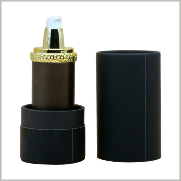 black cardboard tube packaging for shampoo box, The diameter and height of packaging cardboard tubes can be customized according to the product