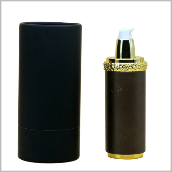 black cardboard tube packaging for shampoo boxes, Strong cardboard round boxes protect the integrity and value of the product inside the package.