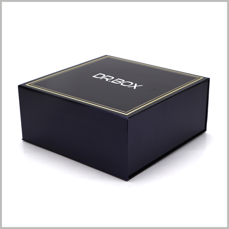 black custom printed boxes packaging wholesale. According to the product, select the specific packaging style, size, structure and printing content to reflect the characteristics of the product.