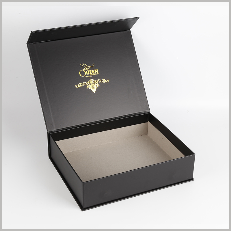 custom black hard cardboard boxes packaging boxes set.1200g gray board paper is the main raw material and has high rigidity; coated paper can be printed and used as laminated paper to improve the aesthetics of packaging.