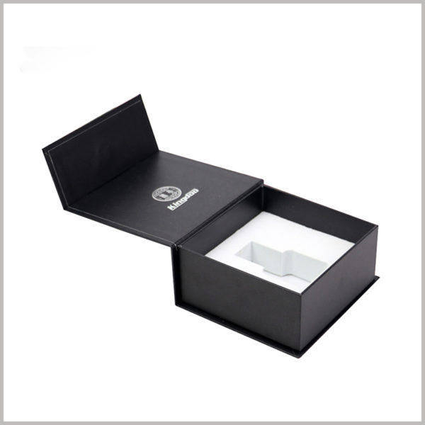 custom black small cardboard boxes for perfume bottles,Choose the right custom packaging size according to the size of the perfume glass bottle