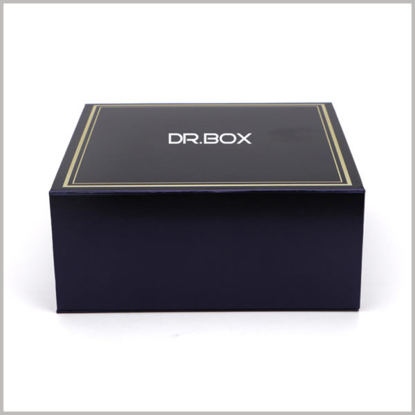 black square boxes packaging. One of the best ways to give brand value to a product is to print the brand name or logo on the front of the box.