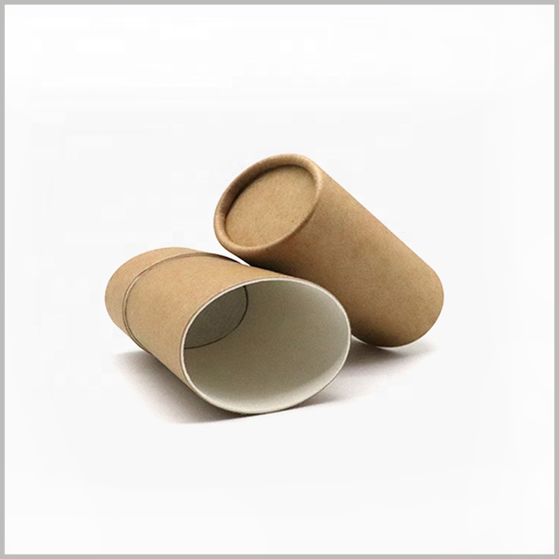 brown Oval deodorant packaging. The appearance of the kraft paper deodorant package is brown, with a classic visual effect, very attractive.