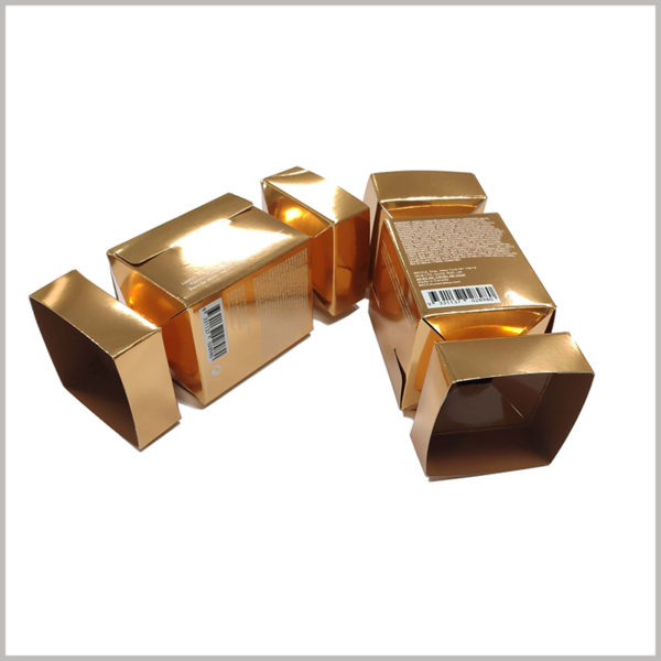 candy-shape boxes for lipstick packaging. The golden candy-type packaging has a strong appeal to customers, and customers who buy lipstick will be pleasantly surprised.