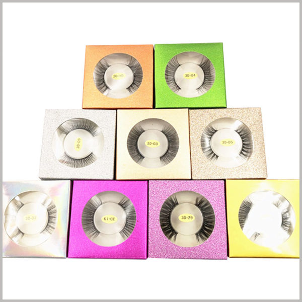 cheap Foldable glitter eyelash packaging box for one pair. This cheap false eyelash packaging is available in different colors and can be used directly in wholesale.