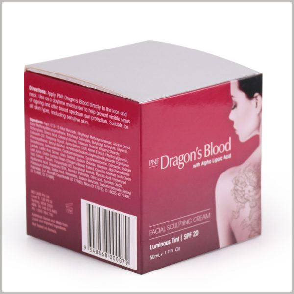 cheap Skin care boxes for 50ml facial cream packaging, Print detailed product information on the side of custom packaging so that consumers can quickly understand the product.