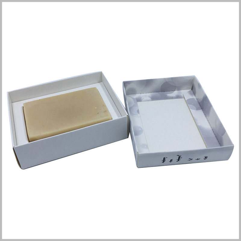 cheap custom printed boxes for soap. The printed soap packaging boxes are handmade, and the packaging manufacturing cost is low.