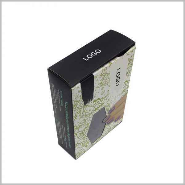 cheap printed packaging with logo for nail polish boxes. Customized cosmetic packaging design is closely related to the product, and can better reflect the characteristics of the product.