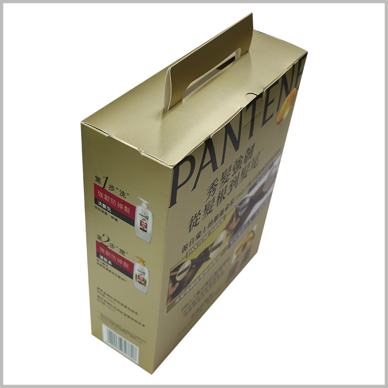 cheap shampoo packaging box with windows. Customized shampoo packaging is printed on the back and sides with detailed content, and detailed product descriptions will promote the value of the product.
