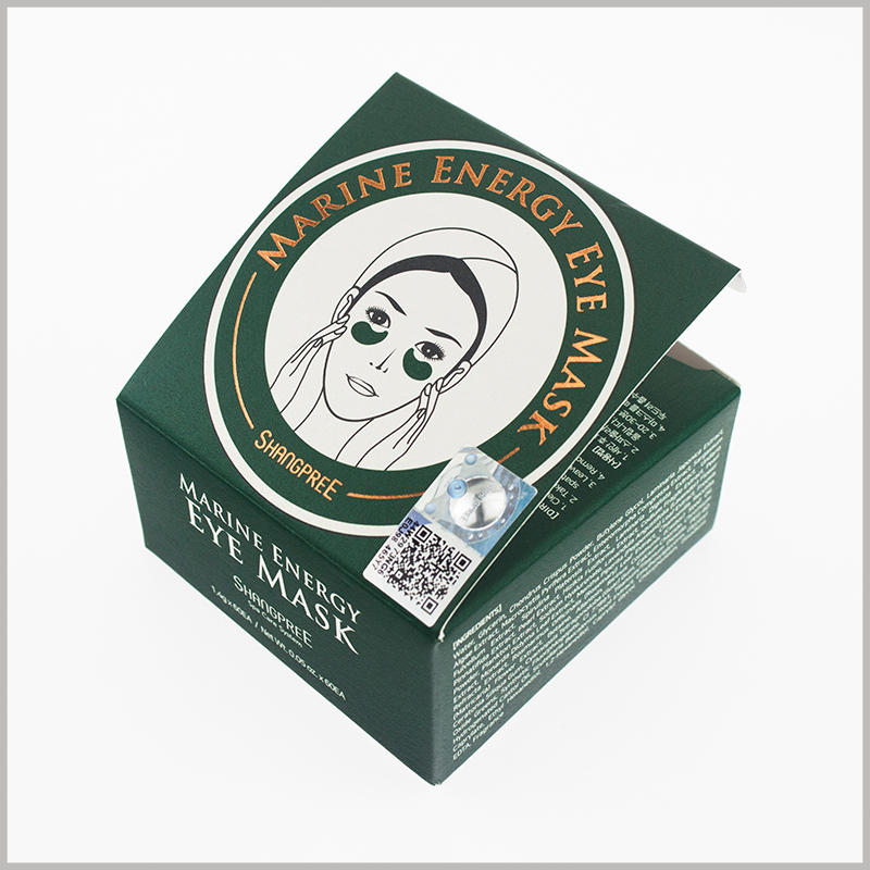 cheap small square skin care boxes for eye mask packaging,The packaging is customizable and printable so that the product and packaging can be perfectly matched.
