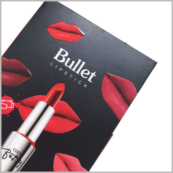 "crative lipstick packaging boxes with printing. Hard ""lip prints"" and lipsticks as the main elements of packaging design have increased the attractiveness of packaging."