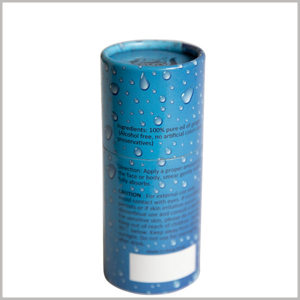 creative cardboard tube for essential oil packaging, Detailed essential oil information can be printed directly on the surface of the paper tube, which is convenient for customers to quickly understand.
