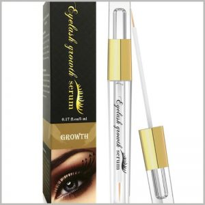 creative cosmetic boxes packaging for eyelash growth serum. As the main element of packaging design, eye patterns are very attractive and can increase the attention of products.