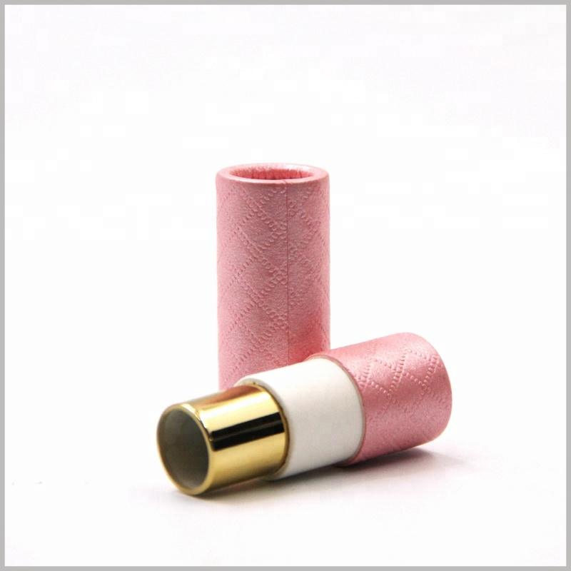 creative cosmetic tube packaging for lipstick boxes,Consistent with the size of all lipstick packages, so empty paper tubes can be used directly for lipstick