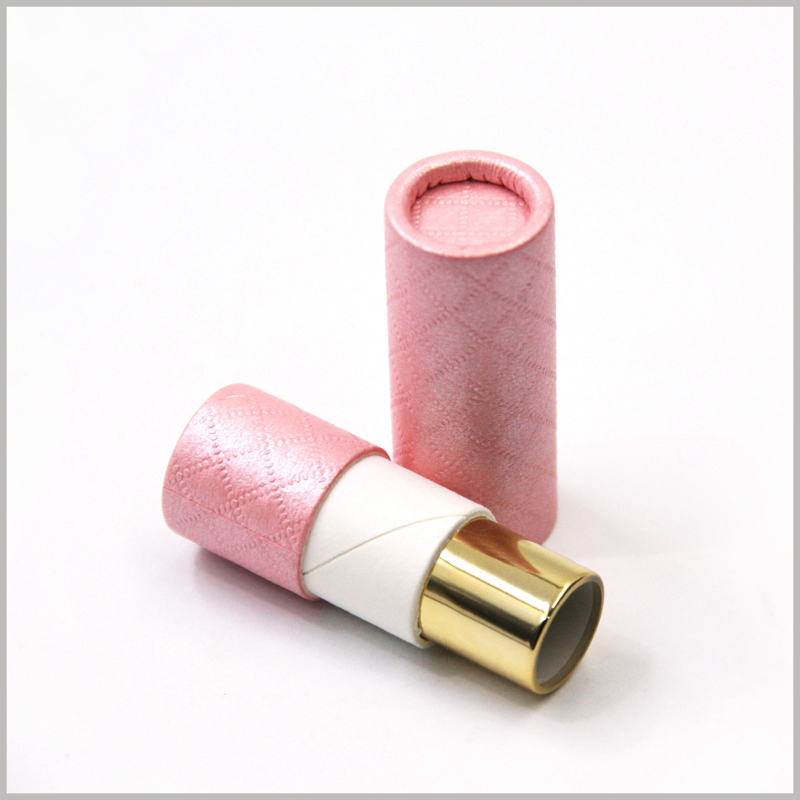 Custom creative cosmetic tube packaging for lipstick boxes.The packaging helps the lipstick to gain more competitive advantages in a unique display form to increase product sales.