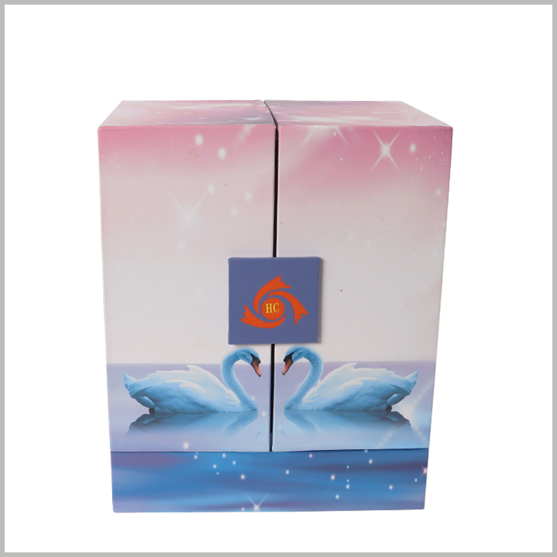 creative design packaging for skin care products.When the box is closed, the entire box body can be combined into a creative and attractive complete picture.