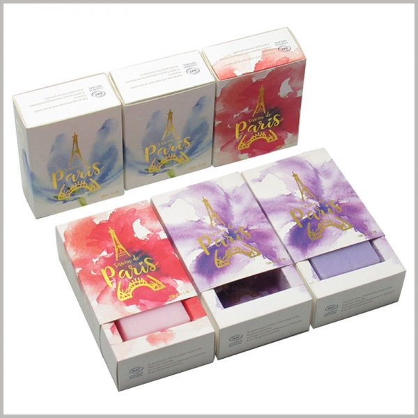 creative drawer boxes for soap packaging. Soap packaging uses different packaging designs to reflect the differentiation and value of the ingredients contained in the product.