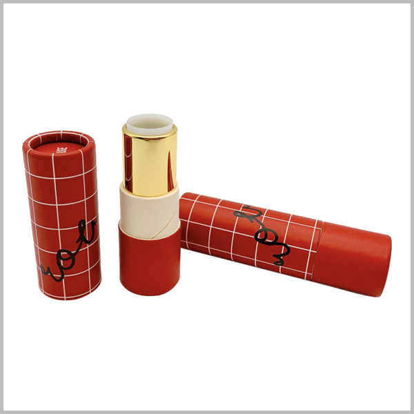 Custom creative eco friendly lipstick tubes wholesale. The customized paper tube packaging is used for lipstick empty tube, and the packaging design is determined according to the product characteristics.