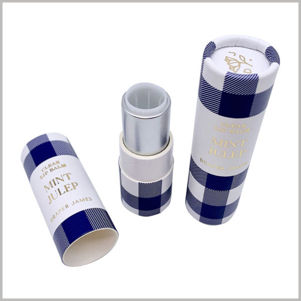 creative empty lipstick tubes packaging. Rotate the bottom of the paper tube, you can push the lipstick up through the plastic tube, and use the product conveniently.