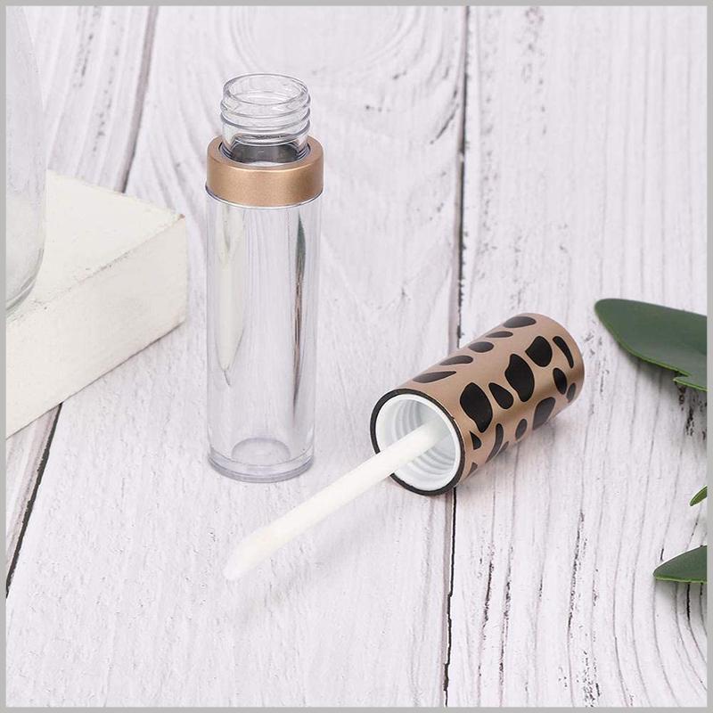 creative lip gloss tube with Leopard Print