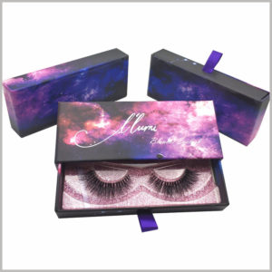 creative packaging design for lashes boxes,The printed eyelash packaging comes in the form of cardboard drawer boxes