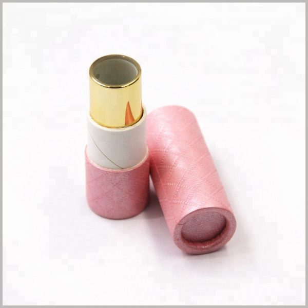 creative pink cosmetic tube packaging for lipstick,The use of printed paper tubes can increase the appearance of lipsticks and make lipsticks more unique.