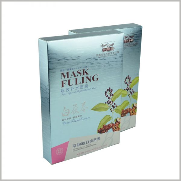 custom creative skin care boxes for hydrating face mask packaging.The packaging boxes have a strong sense of layering with emboss printing and 3D printing.