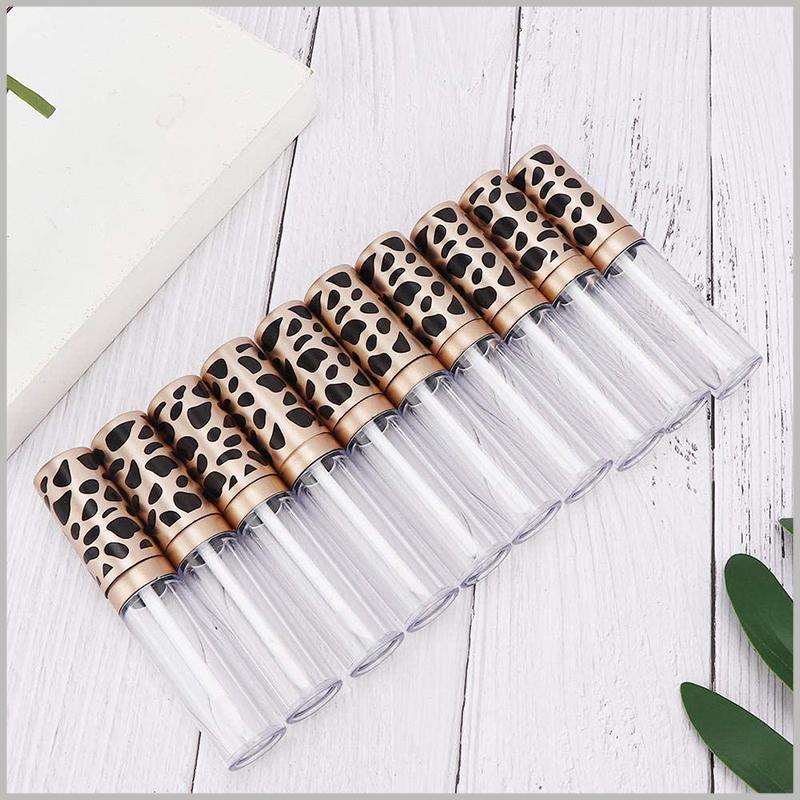 custom 5ml lip gloss tube with Leopard Print