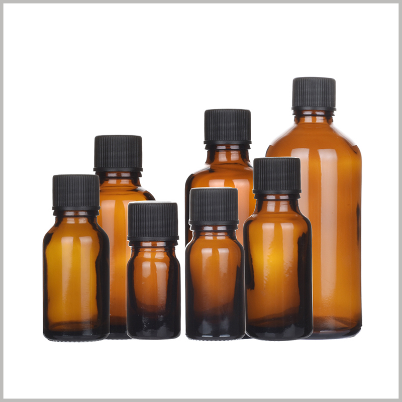 custom Glass Essential Oil Bottles With Orifice and Cap