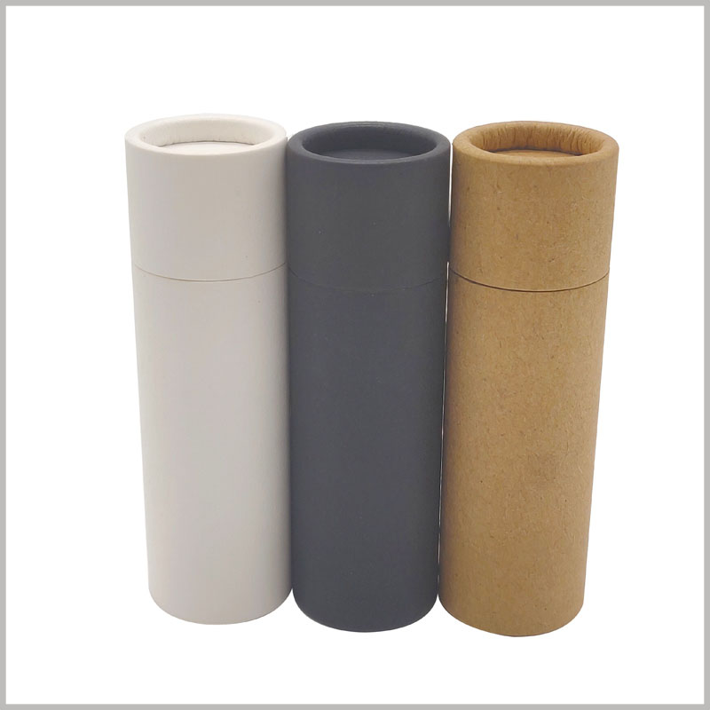custom cardboard deodorant tubes packaging without printed. Eco friendly paper tube packaging, reusable or biodegradable, causing very little damage to the environment.