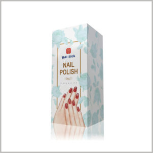 custom cheap foldable packaging for nail polish. Artistic nails and hands as the main patterns of product packaging, very intuitively publicize the characteristics of the product.