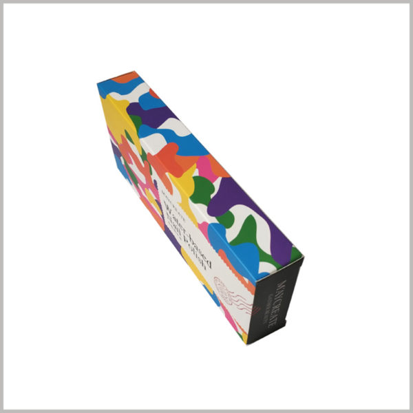custom colors printed boxes for 6 bottles of nail polish packaging. The high-quality product packaging formed by CMYK printing will increase the value of cosmetics.
