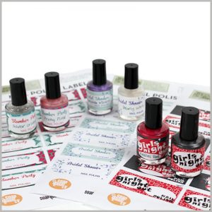 custom labels for nail polish bottles.Printed labels are the best way to promote nail polish bottles, which can increase the promotional time of nail polish.