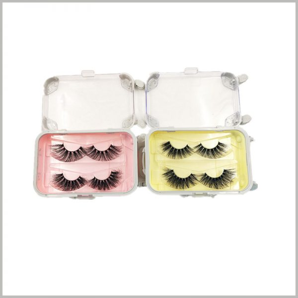 custom lash packaging box travel case style for two pairs