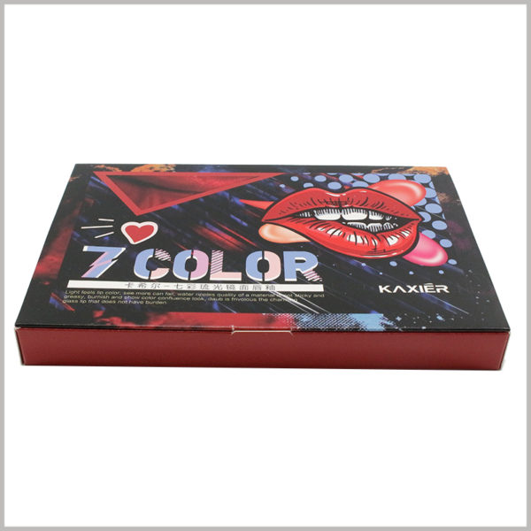custom lip gloss boxes packaging wholesale. The exaggerated style packaging design attracts more customers' attention and achieves the purpose of promoting lip gloss products and brands.