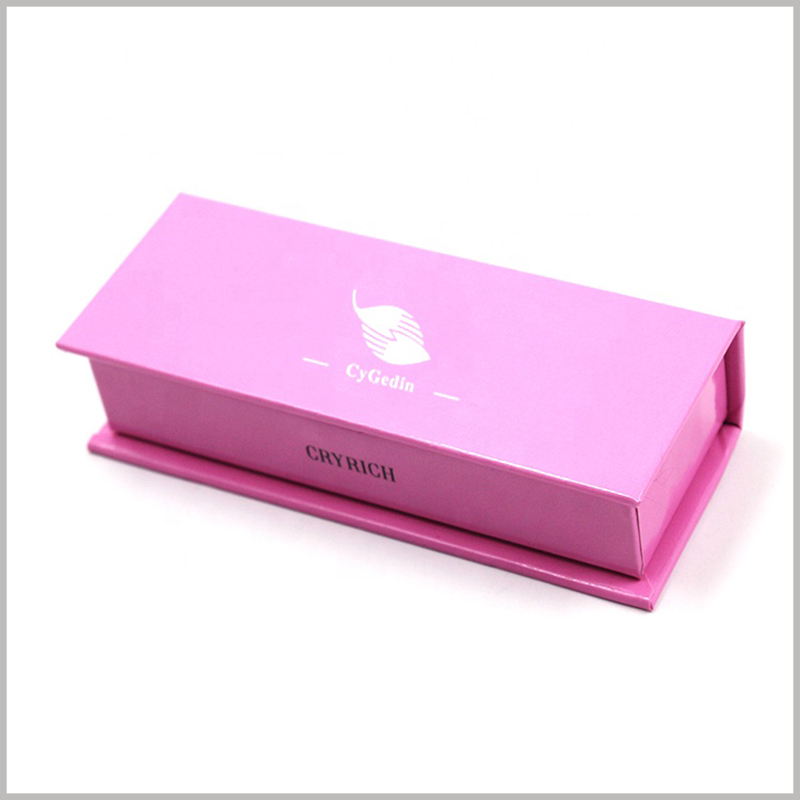 custom liquid lipstick packaging boxes for single bottle. The thickness of hard cardboard boxes packaging is 2mm, which has high sturdiness and durability.
