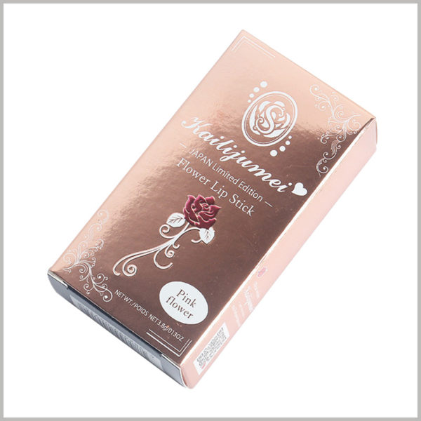 custom luxury packaging for 3.8g lipstick boxes, This packaging material itself has a certain gloss, which can perfectly show the advanced texture of color matching.