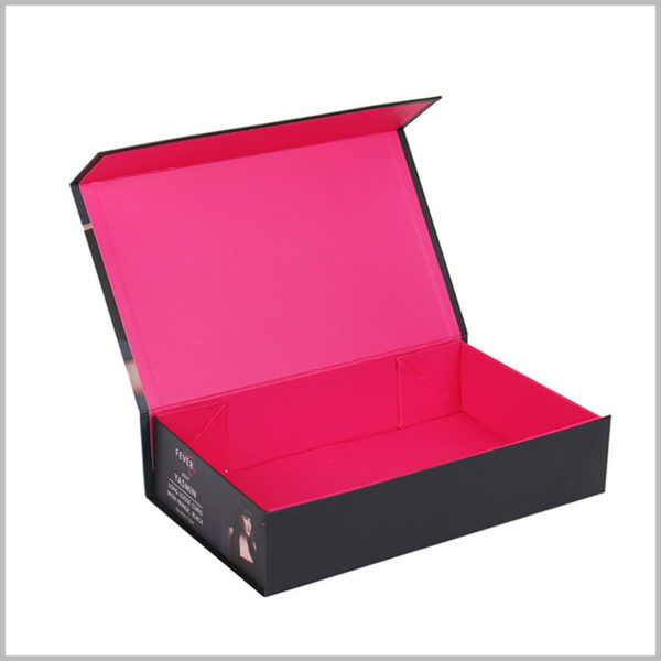 custom packaging boxes for wig collection.This is a book-shaped box that can be easily opened, and can be opened like a book.