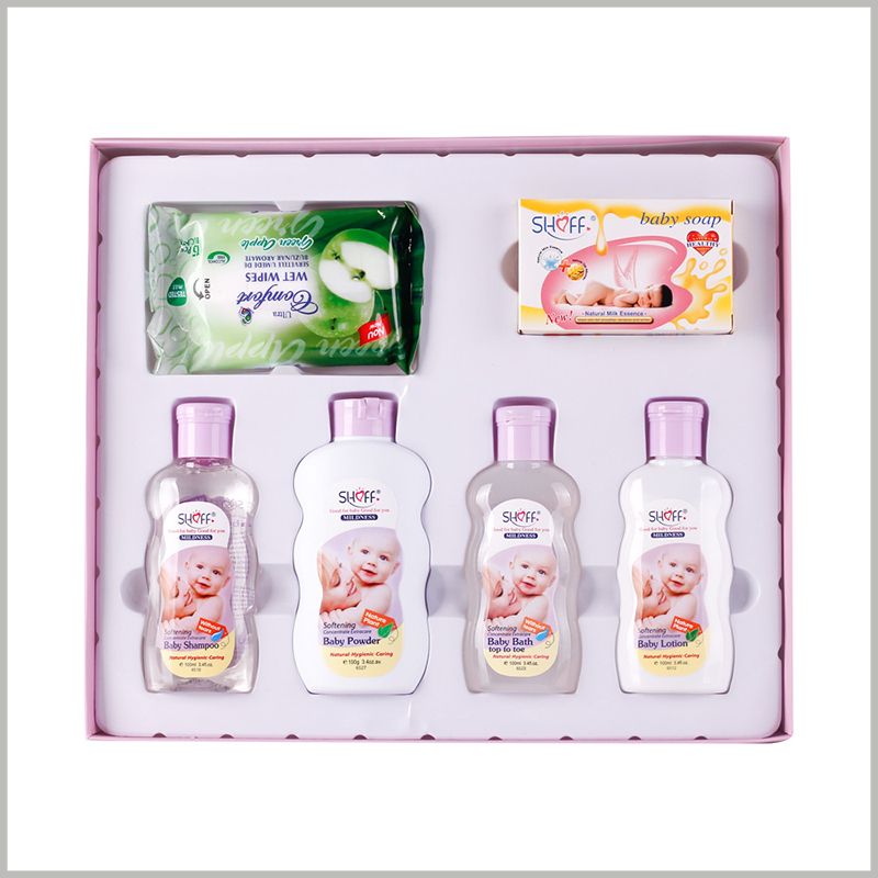 custom packaging for baby care products.Integrating different types and quantities of baby care products into gift boxes can better reflect the value of the products.
