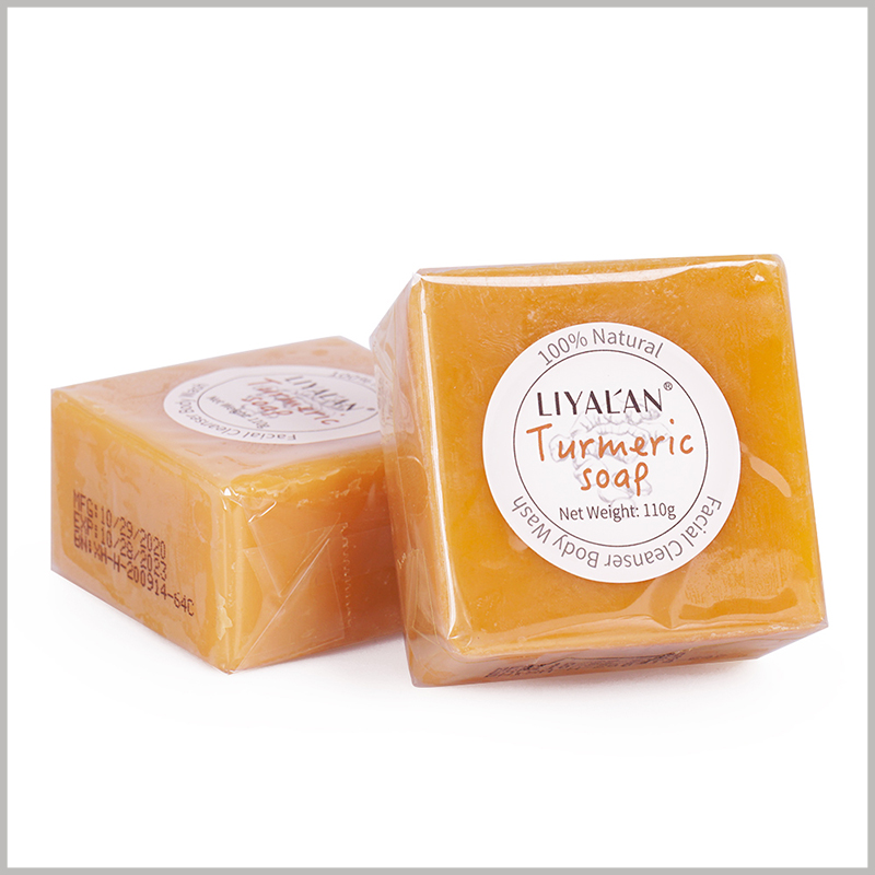 custom paper labels for soap.Print the main information of the soap, such as the brand name, product name, etc., on the round label, and paste it on the front of the soap.