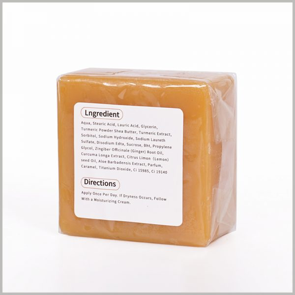 custom printable paper labels for soap.The detailed product information is printed on the back label of the soap, which can reflect the product's composition and other information.