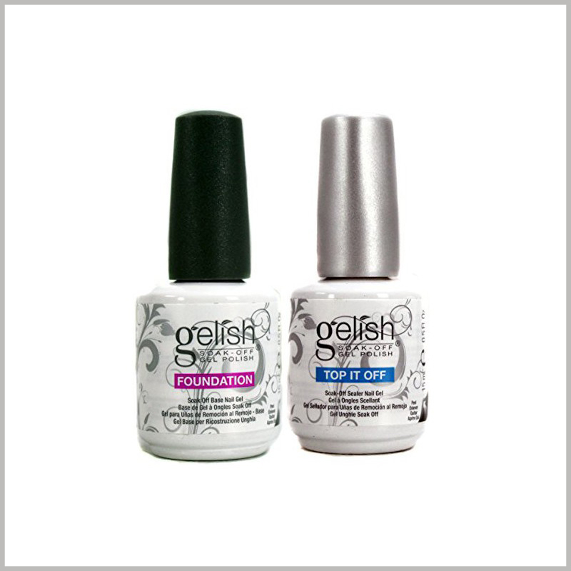 custom printed labels for nail polish bottles.The label of the nail polish bottle can instantly reflect the characteristics of the nail polish in the form of words or patterns, which improves the attractiveness of the product.