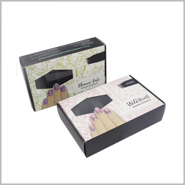 custom printed packaging with logo for nail polish boxes. The stylish makeup boxes design can increase the attractiveness of packaging and products, and make selling products easier.
